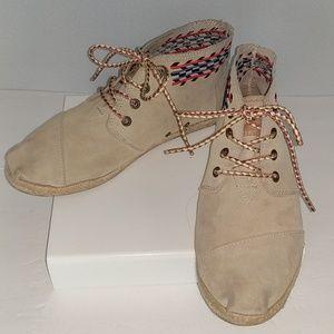 Tom's desert botas boots booties shoes bohemian